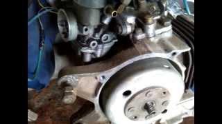 как снять колокол генератора на скутере Suzuki Sepia