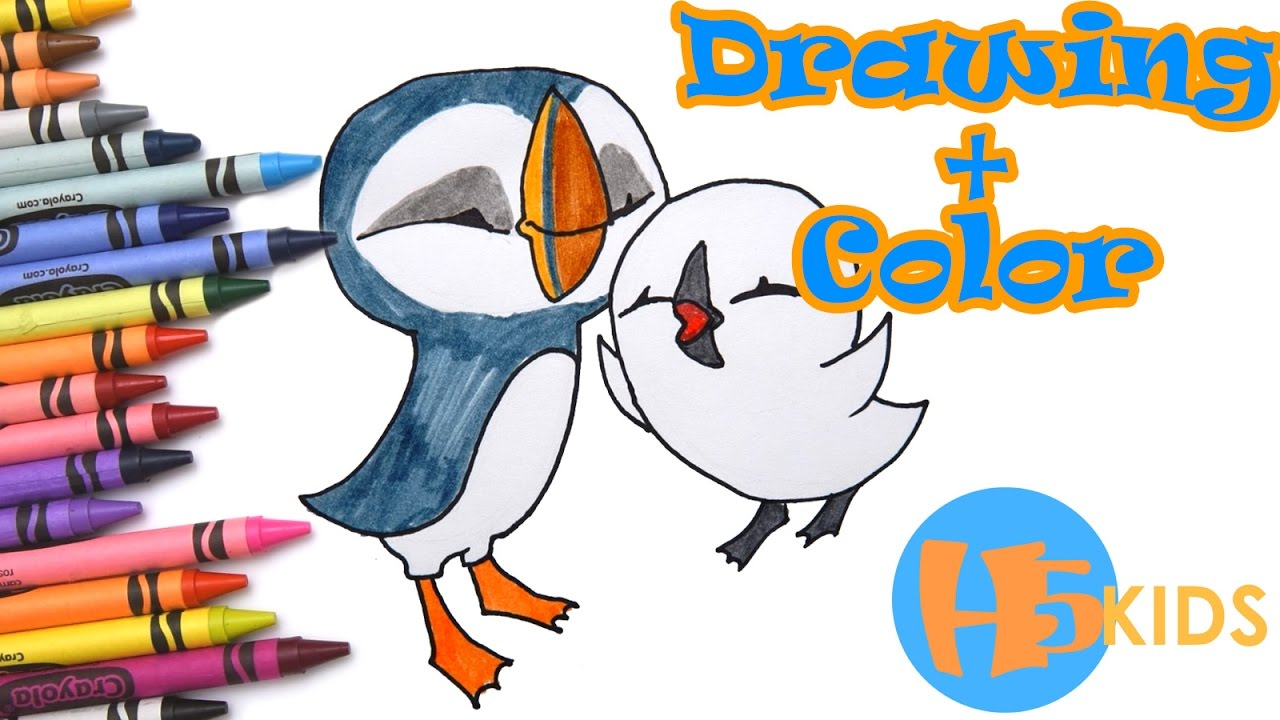 How To Draw Oona & Baba - Puffin Rock - Easy - Kids Drawing Tutorial ...