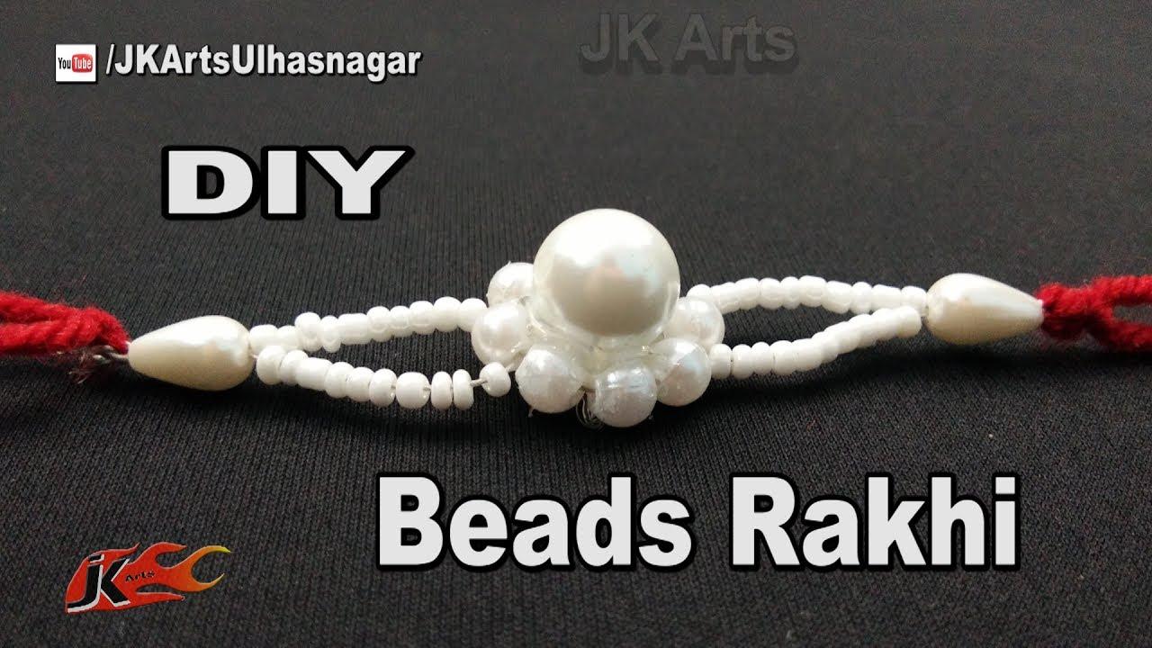 Diy Easy Beads Rakhi For Raksha Bandhan How To Make Rakhi Jk