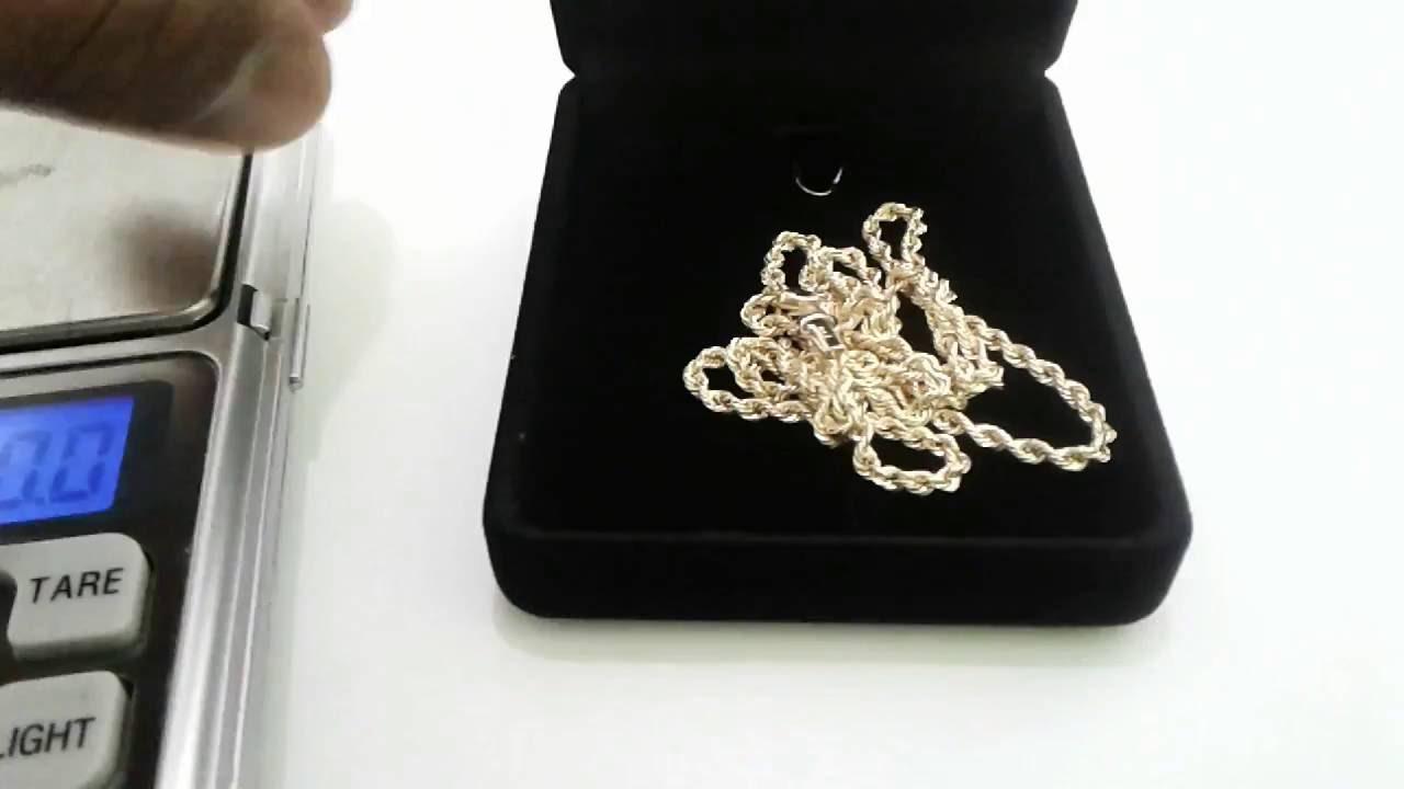 Corrente de ouro 18k cordão baiano Feminino 45 cm - YouTube 40eef31603