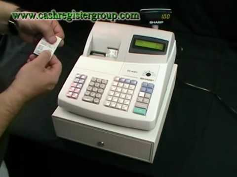 How to operate / Instructions for the Sharp XE-A301 Cash register tills epos