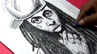 How to Draw American rapper LIL WAYNE Drawing