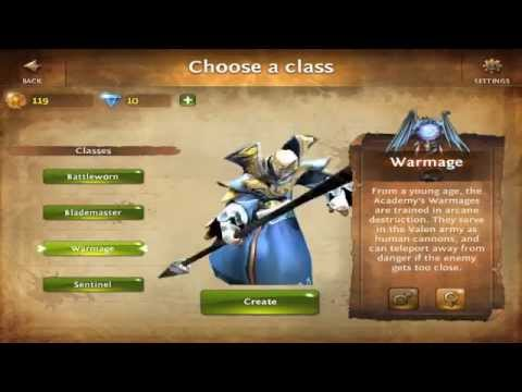 Warmage Class For Dungeon Hunter 4 Ipad, Iphone App