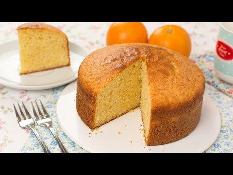 Orange Sponge Cake - How To Make A Light & Super Fluffy Orange Cake Recipe