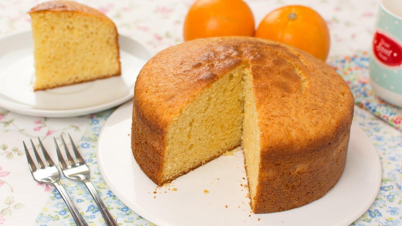 maxresdefault - Orange Sponge Cake - How to Make a Light & Fluffy Super Orange Cake Recipe