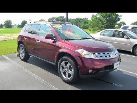 2005 nissan murano sl awd full tour start up at massey. Black Bedroom Furniture Sets. Home Design Ideas