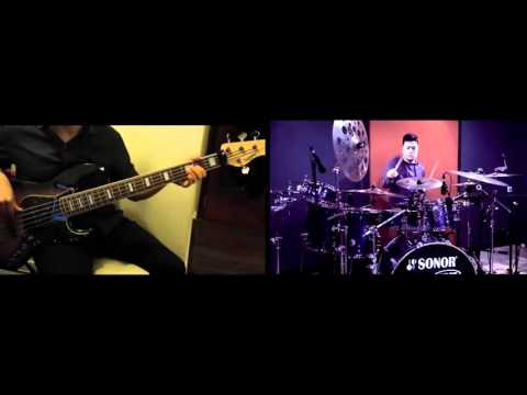 Adera - Lebih Indah (Bass Cover with Drum Cover from Echa Soemantri)