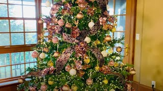 Chocolate, Champagne and Roses Christmas Tree Collection