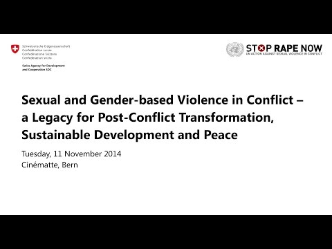 Sexual and Gender-based violence in conflict zones