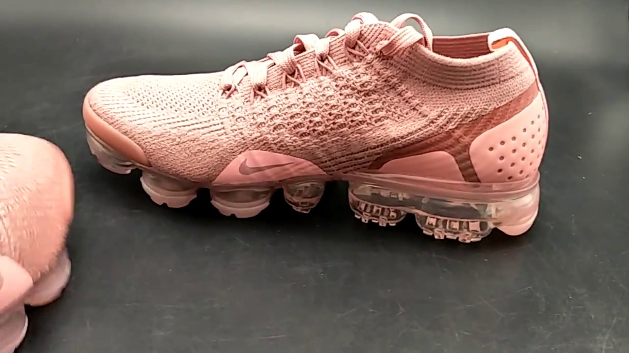 "check out 9a750 b484b NIKE AIR VAPORMAX FLYKNIT 2 ""RUST PINK"" WOMENS 942843-600"