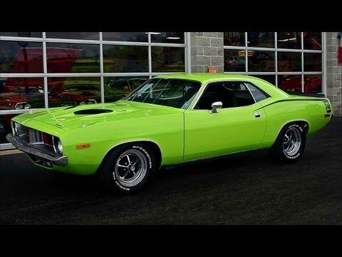 1973 Plymouth Cuda 340 Six Pack Sublime Green Mopar Youtube