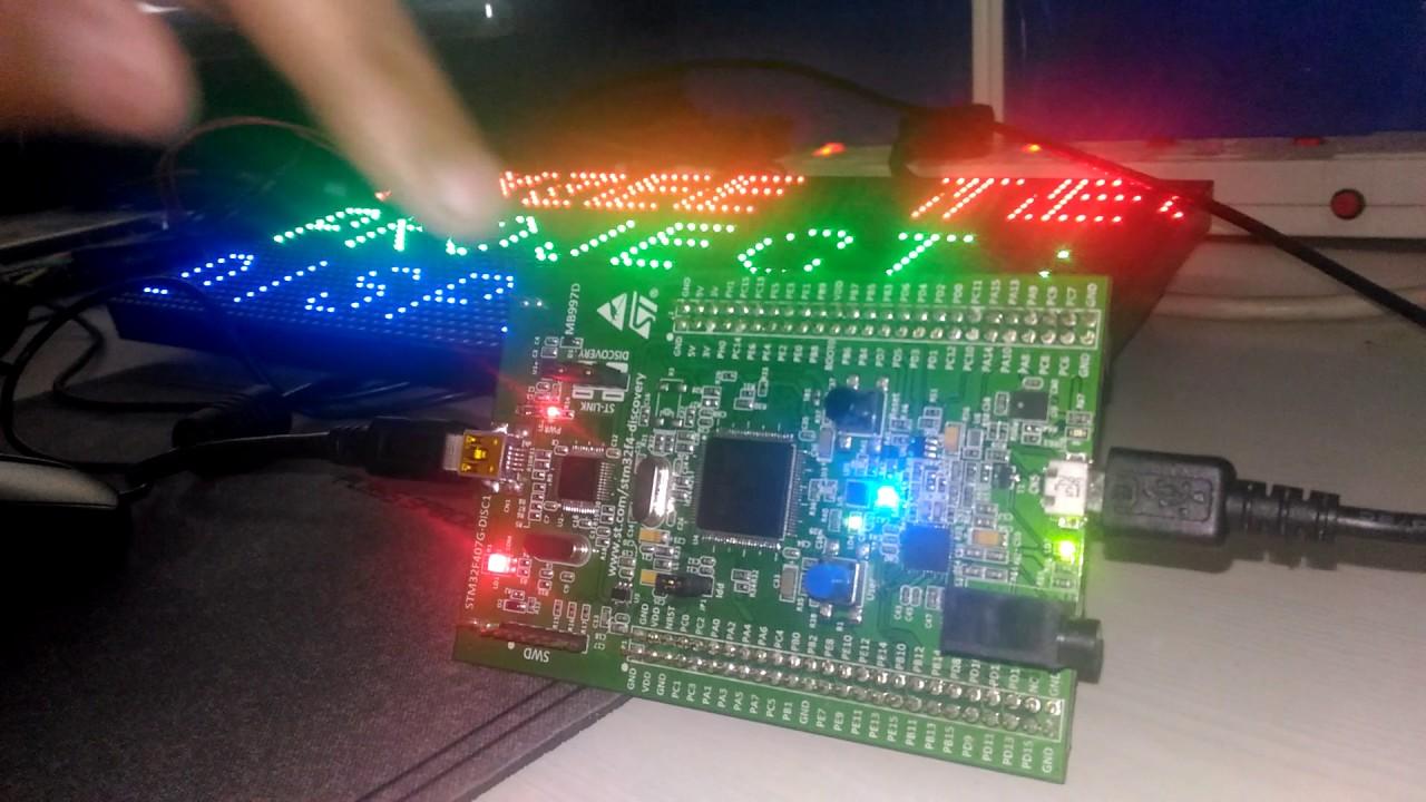 STM32 LED Matrix from USB by PixzeeTechnology
