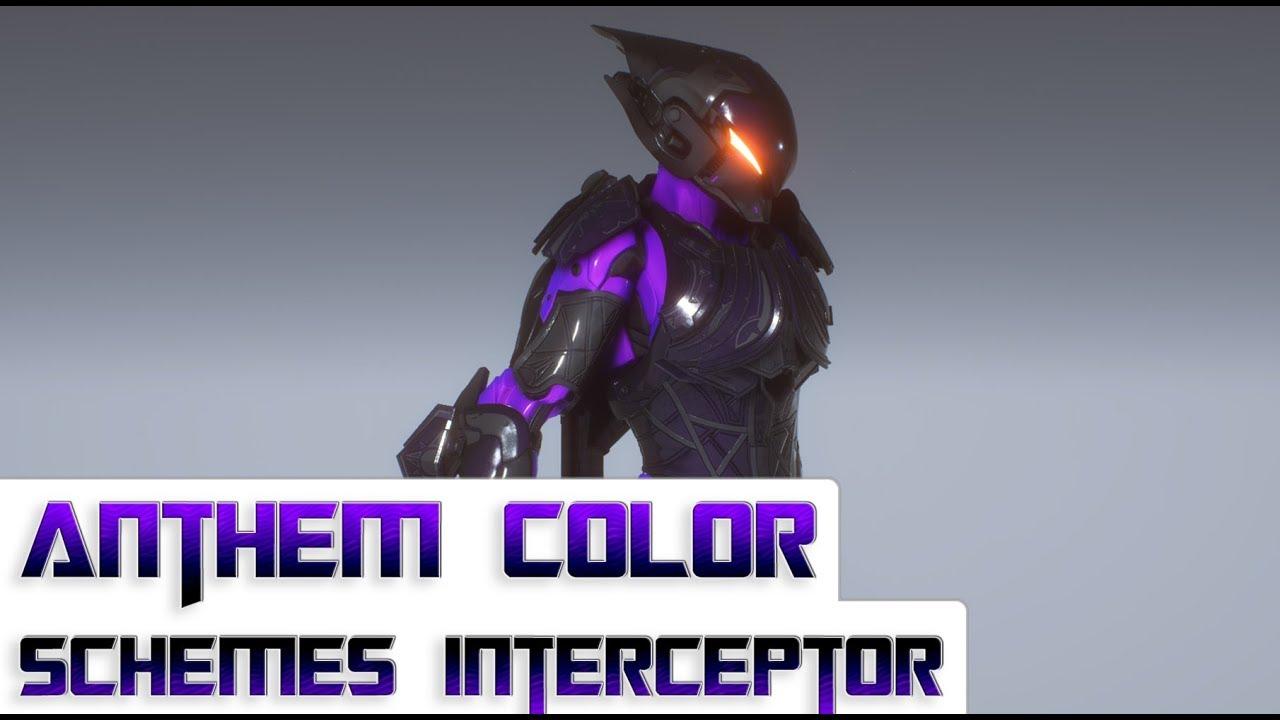 Anthem 5 Color Schemes For The Interceptor Javelin Youtube