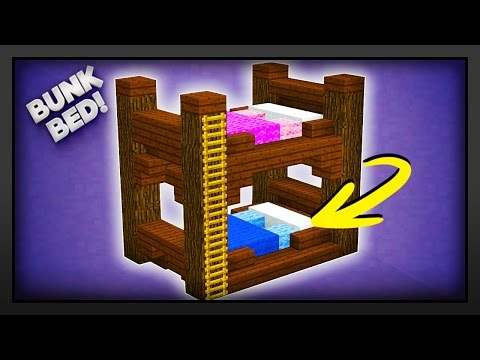 Minecraft - How To Make A Bunk Bed