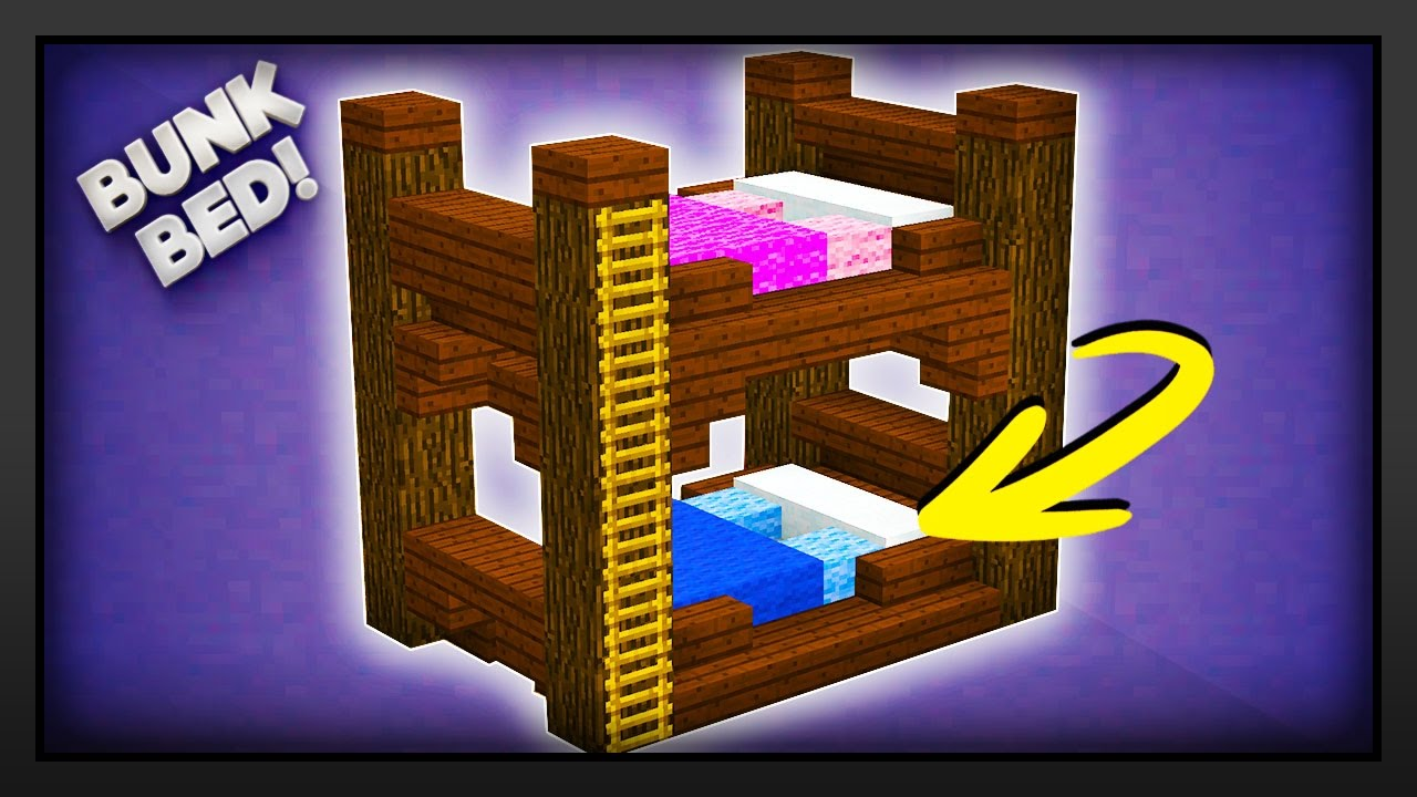 Minecraft How To Make A Bunk Bed Youtube