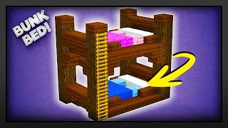 Minecraft - How To Make A Bunk Bed! Today I