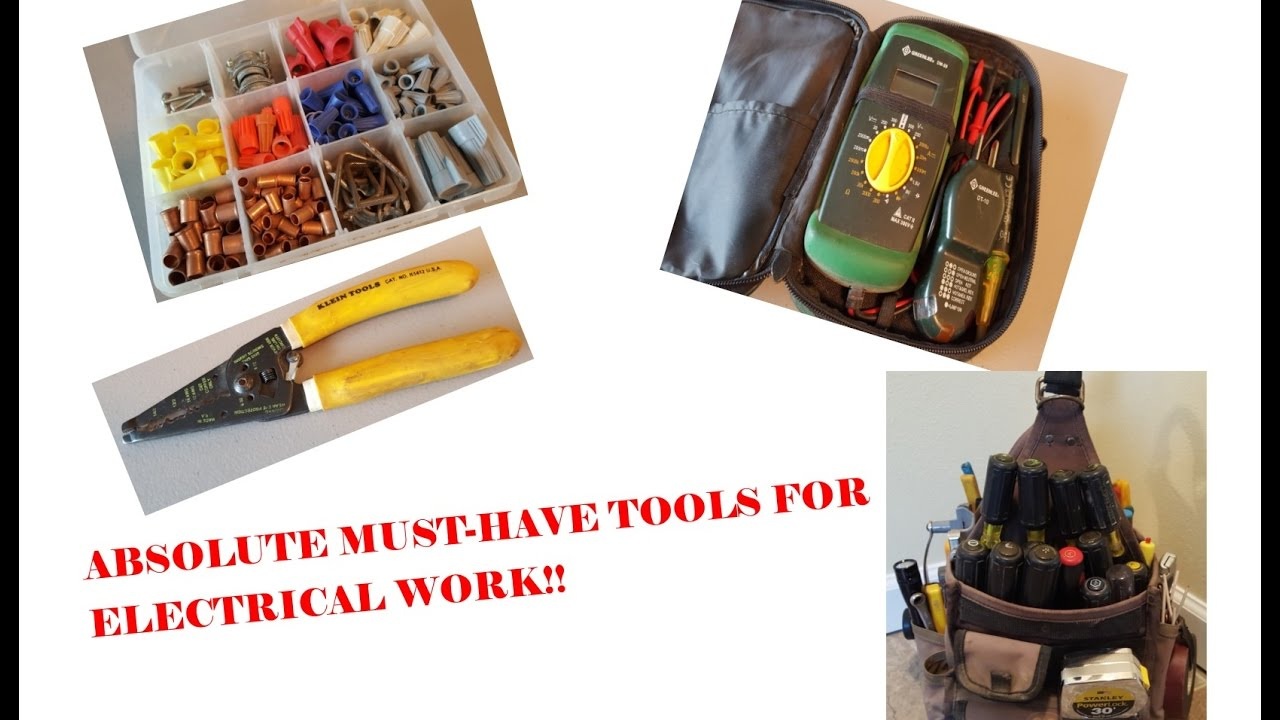 ABSOLUTE MUST-HAVE TOOLS FOR ELECTRICAL WORK!! - YouTube