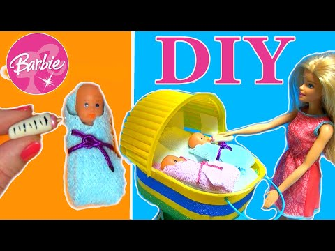 How To Make Miniature Baby Set for Barbie Doll  Baby Hacks and Crafts  Barbie and craft