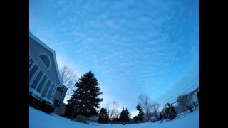 Cirrocumulus Clouds and Sunset Time Lapse taken with GoPro in NW Ohio