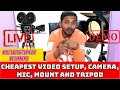 cheapest | video recording equipment for youtube | for beginners in Hindi | live demo | cheap budget