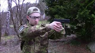 Airsoft Cyma G18c AEP Schusstest 0,5 Joule