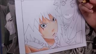 Speed Drawing : Jiraya, Tsunade and Orochimaru/Legendary Sannin (Naruto)