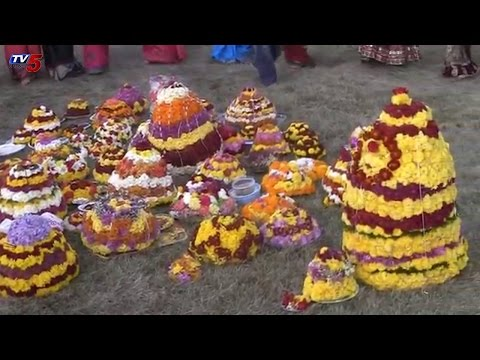 NRI's Bhatukamma Celebrations In Albany Telugu Association | New York : TV5 News