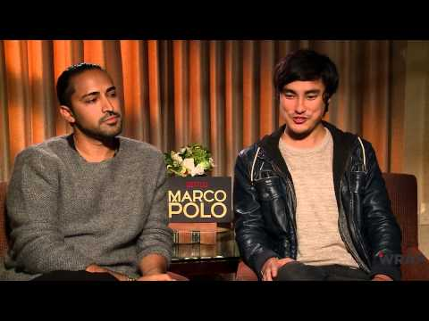 Netflix's 'Marco Polo' Stars Talk 'Marco Polo' the SwimmingPool Game