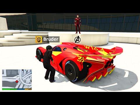 Mein KLEINER BRUDER klaut IRON MAN AUTO in GTA 5 RP!