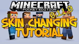 how to install custom skins in mcpe minecraft pe pocket edition tutorial working