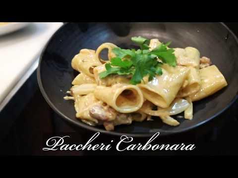 Creamy Paccheri Carbonara | Pasta Recipes | Italian Food