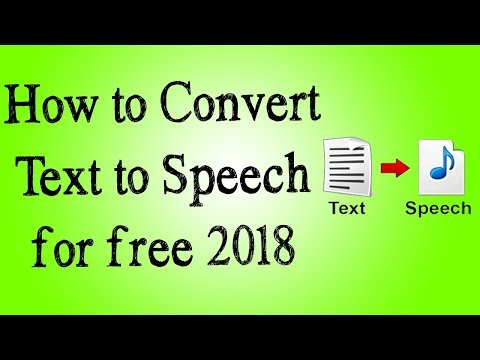 Convert Text to speech free 2018 | Free text to audio youtube tutorial