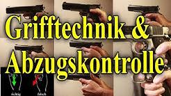 Kurzwaffe Grifftechnik und Abzugskontrolle Pistole