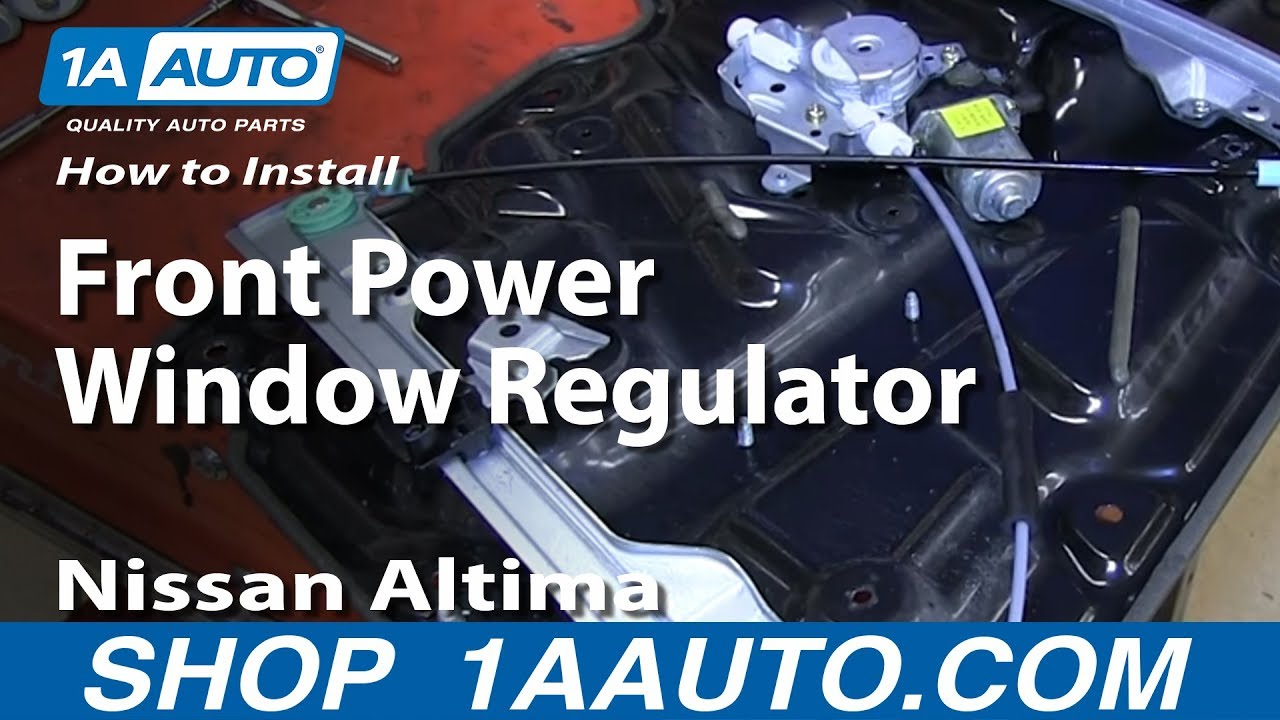 How To Install Replace Remove Front Power Window Regulator 2002 06 Nissan  Altima   YouTube