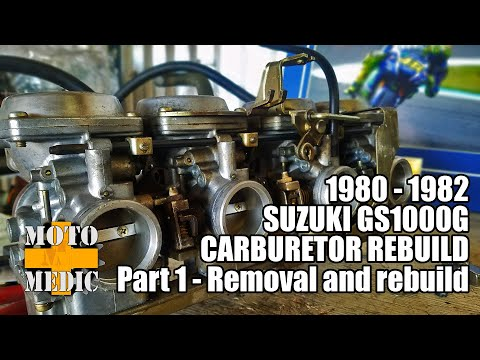 1980 Suzuki GS1000G Carburetor Rebuild - YouTube