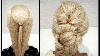 Быстрая Объемная прическа из резинок.Пошагово.Fast voluminous hairstyle made of elastic bands.