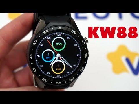 Умные часы Smart Watch KingWear KW88 часы с сим картой на Android 5 1 Smartwatch KW88 Faces 0+