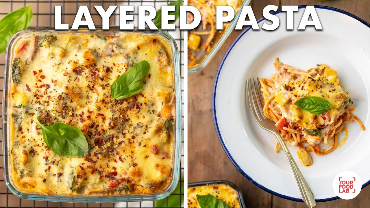 Layered Red Sauce Pasta with Vegetables in White Sauce Recipe | Baked Spaghetti | Chef Sanjyot Keer