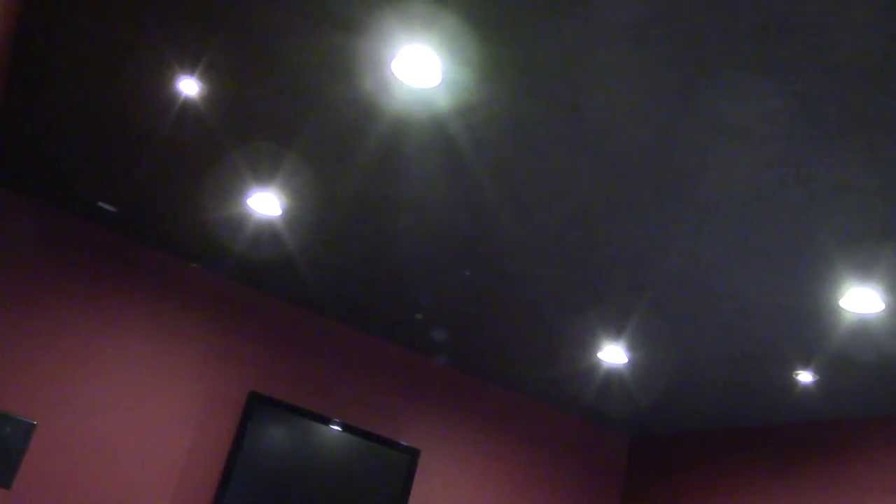 Diy Home Theater Room Recessed Lighting Youtube