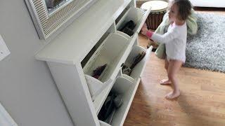 كيفية عمل جزامة من الكرتون - How To Make A Shoes Cabinet From Cartoon