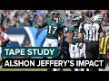 Tape Study: Gunter Brewer Analyzes Alshon Jeffery's Impact | Eagles Game Plan