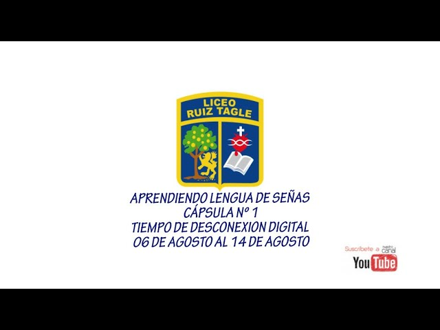 APRENDIENDO LENGUA DE SEÑAS , CÁPSULA 1