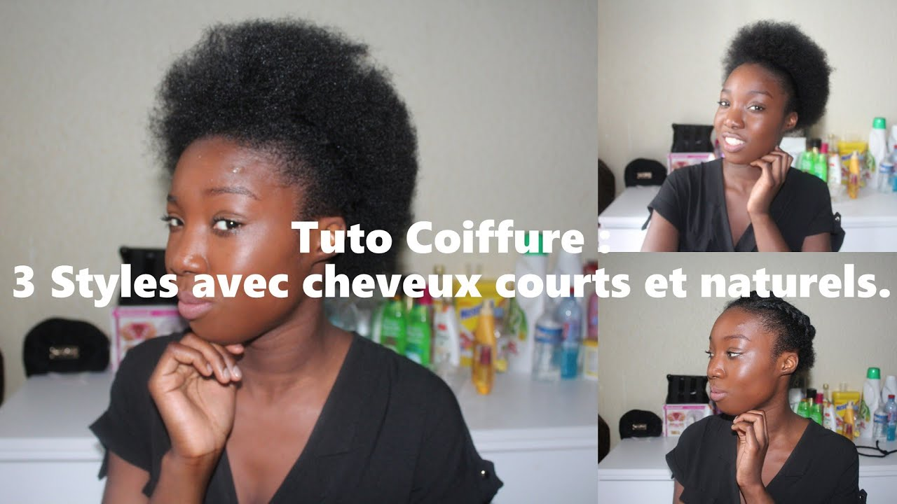 tuto coiffure 3 styles coiffure avec cheveux courts et. Black Bedroom Furniture Sets. Home Design Ideas
