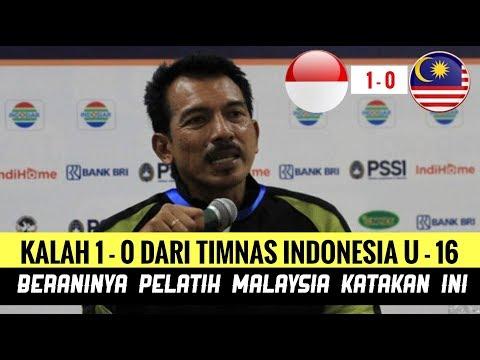 Kalah 1-0 Dari Timnas U-16 Indonesia, Beraninya Pelatih Malaysia Katakan Ini?
