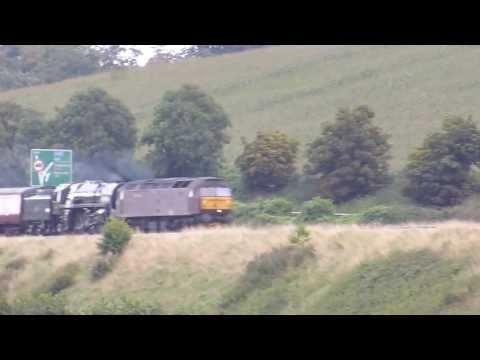 47245+70013 Oliver Cromwell 5z36 ECS move @ Newton st Loe, Bath  07-09-13