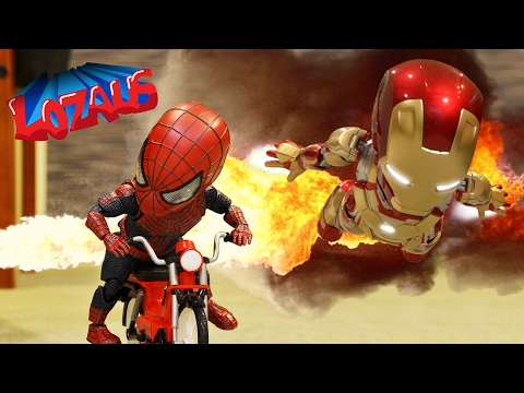 BABY SPIDERMAN & The IRONMAN BABYS STOP MOTION VIDEO