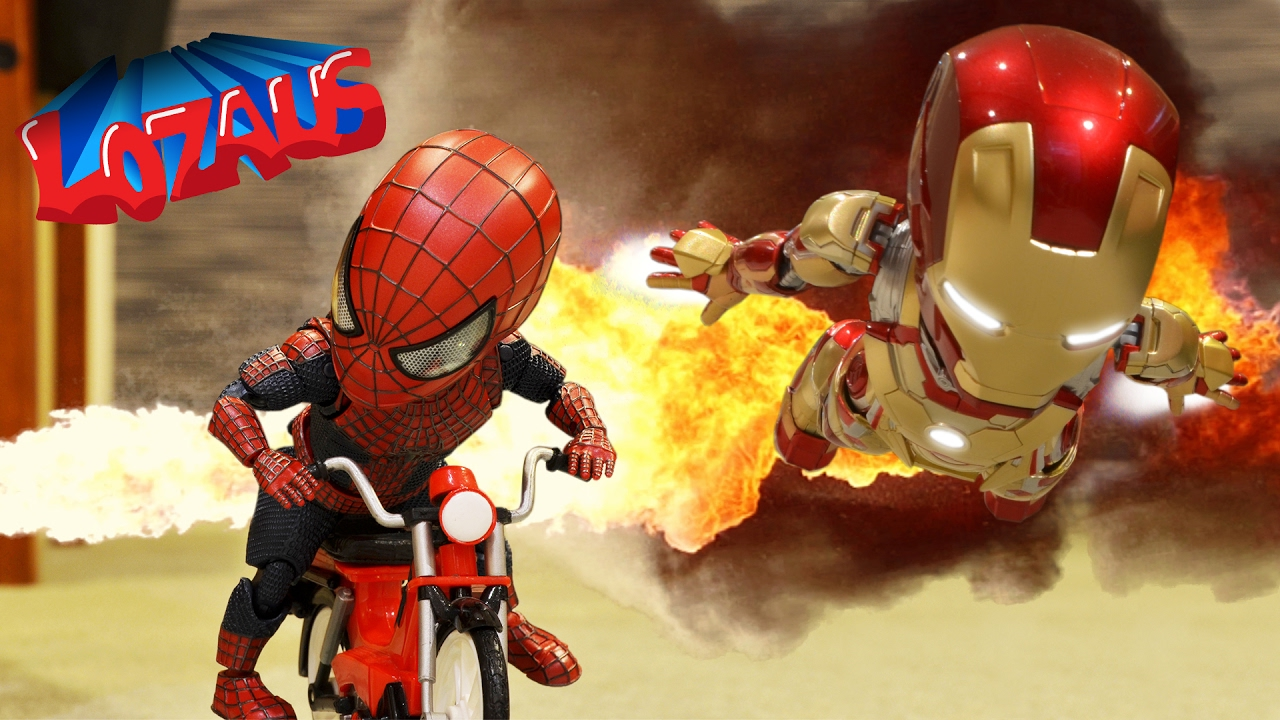 baby spiderman  u0026 the ironman babys stop motion video