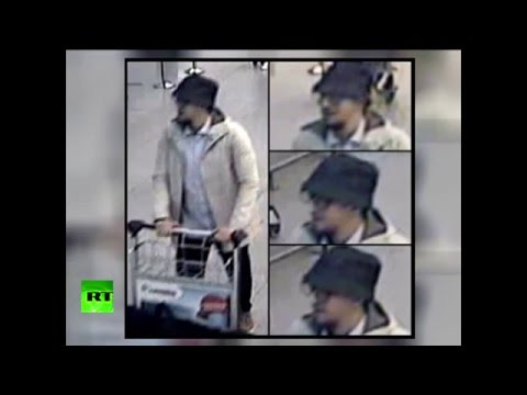 Actual CCTV footage of Brussels attacks 'man in hat' suspect
