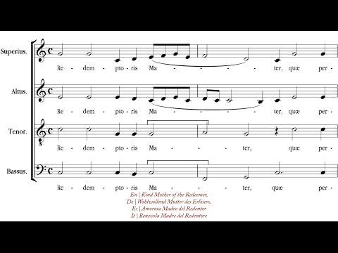 Palestrina | Alma Redemptoris Mater [á 4; The King's Singers]