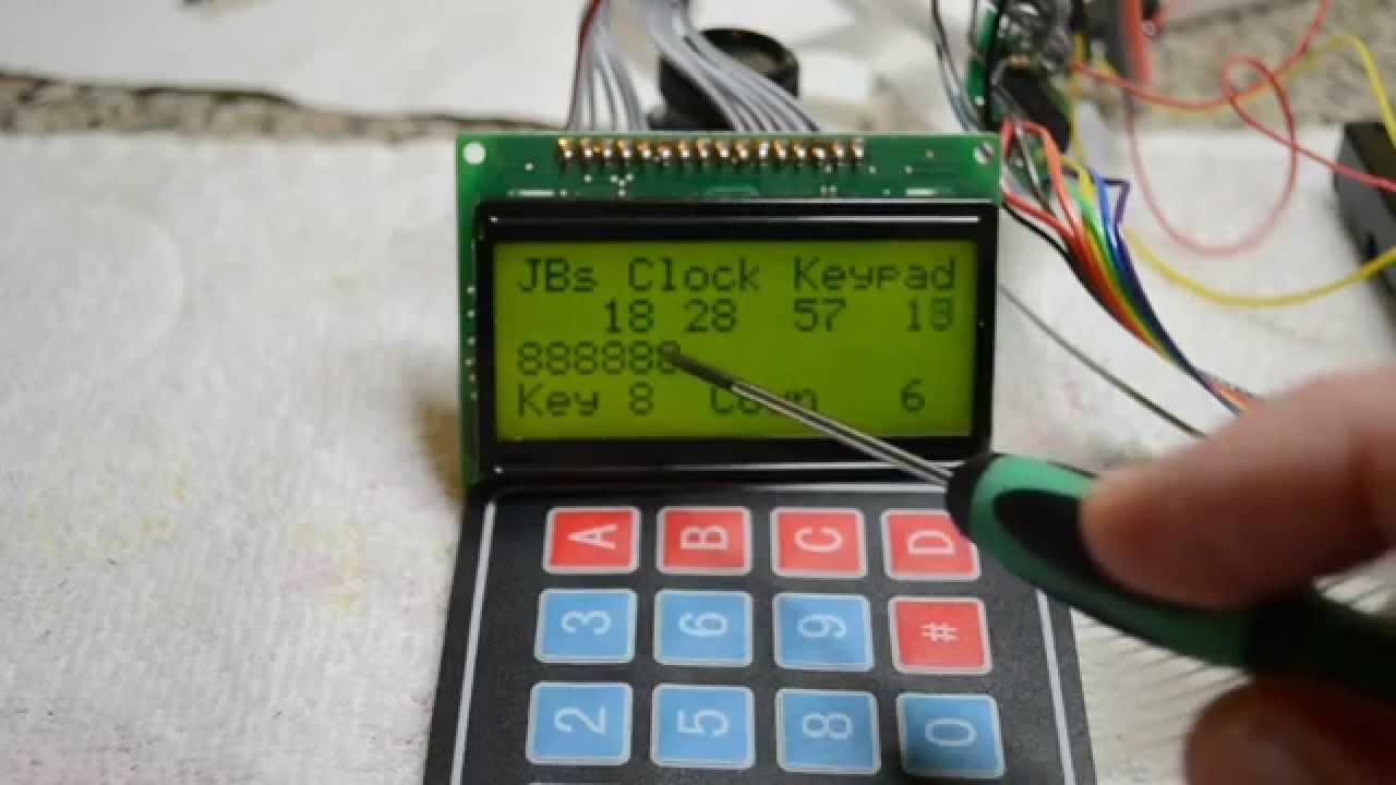 4x4 Keypad Matrix Demo With Code And Wiring